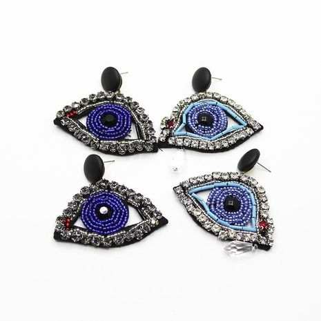 Europe and America exaggerated Facebook eye earrings NHWJ156787's discount tags