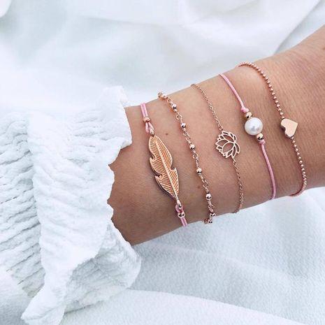 Fashion lotus hand-woven bracelet NHPJ156788's discount tags