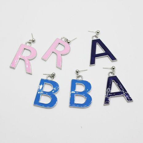 Fashion capital letters colored earrings NHWJ156790's discount tags