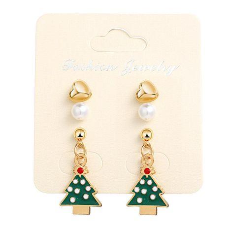 Creative Christmas Tree Alloy Earrings NHPJ156793's discount tags