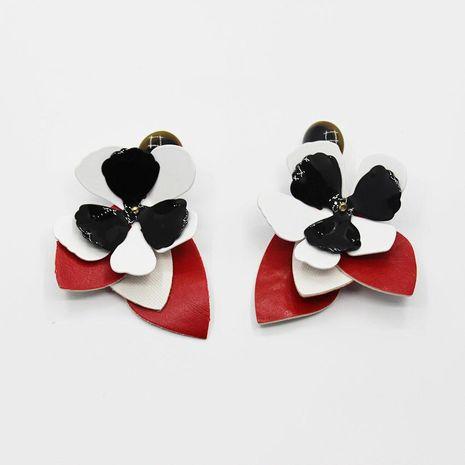 Stylish sweet petal contrast stud earrings NHWJ156794's discount tags