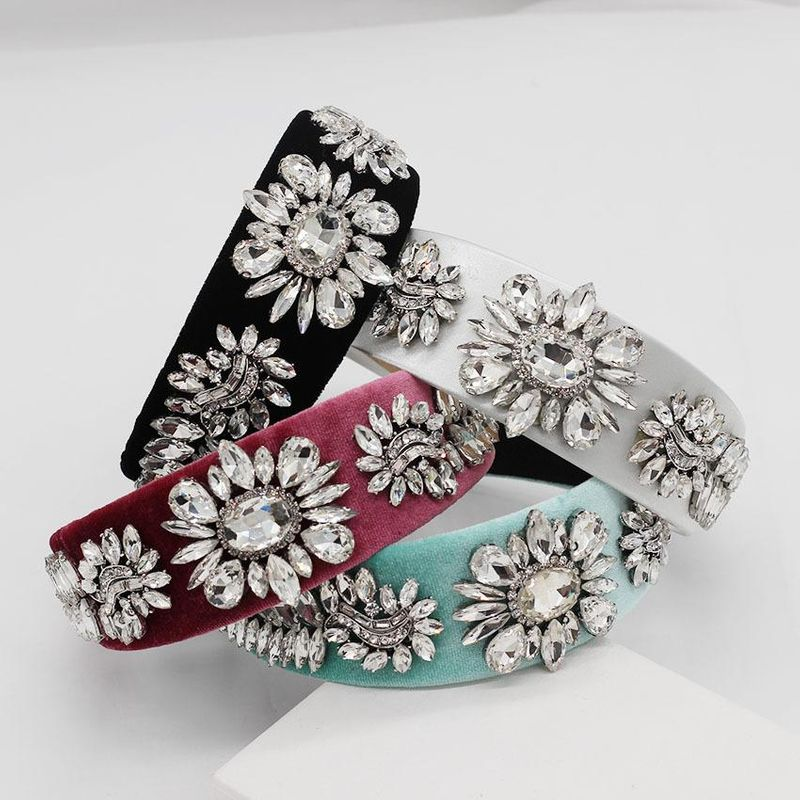 Womens Floral Rhinestones Hair Band & Headbands NHWJ156797