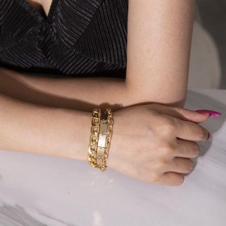 Vintage punk geometric chain multi-layer bracelet NHXR156801's discount tags