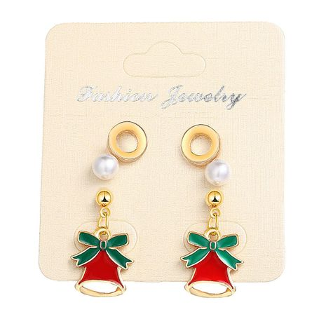 Fashion Pearl Christmas Bell Stud Earrings Set 2 Pairs NHPJ156814's discount tags