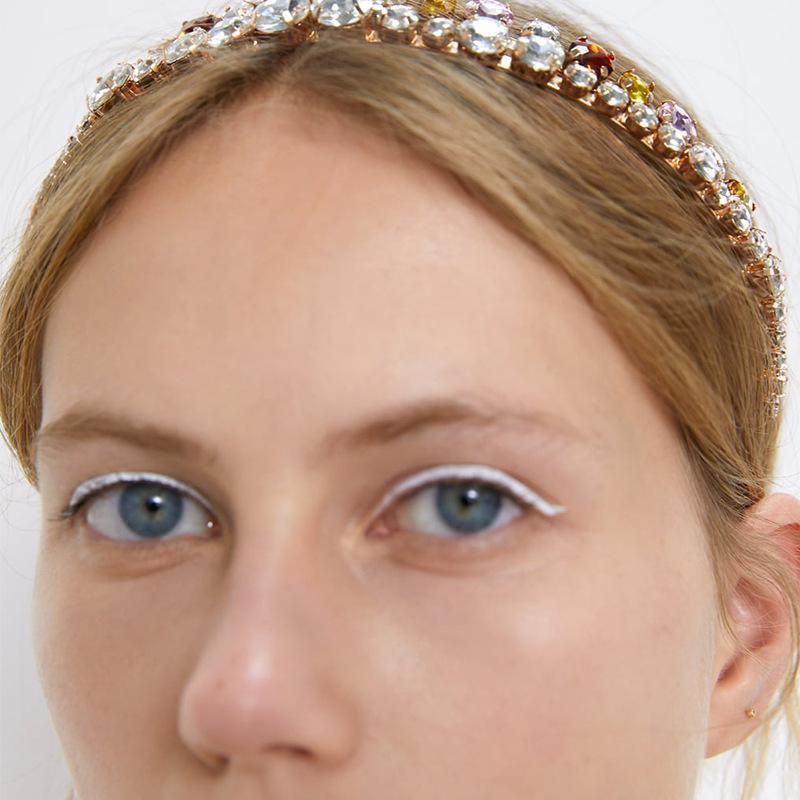 Colorful rhinestone rhinestone inlay hair accessory set NHKC156816