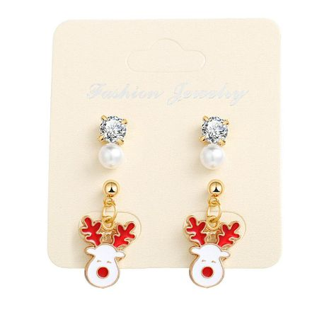 Fashion Drop Oil Alloy Fawn Drop Earrings NHPJ156820's discount tags