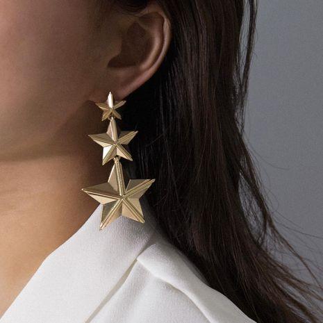 Fashion stereo star fringe geometric earrings NHXR156822's discount tags