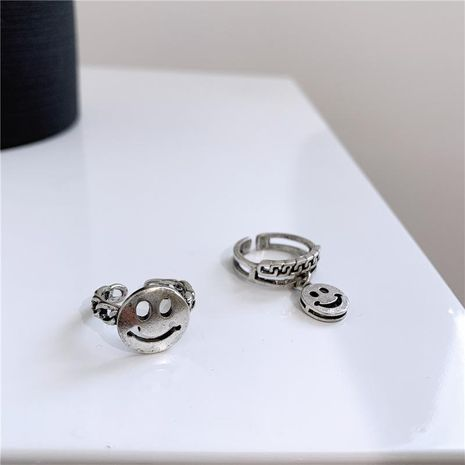 Cool autumn and winter trend open smile ring NHYQ156837's discount tags