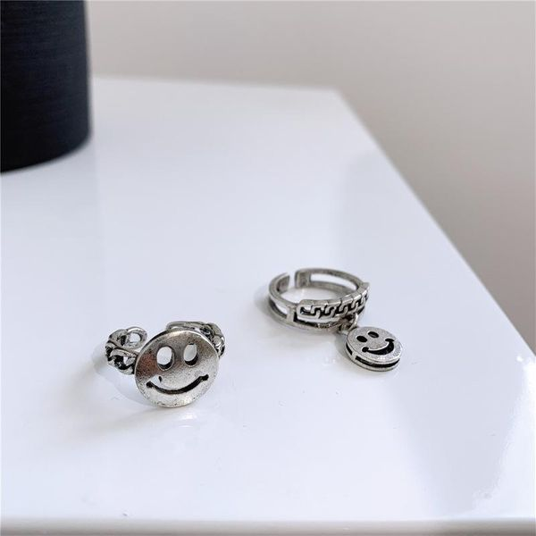 Cool autumn and winter trend open smile ring NHYQ156837