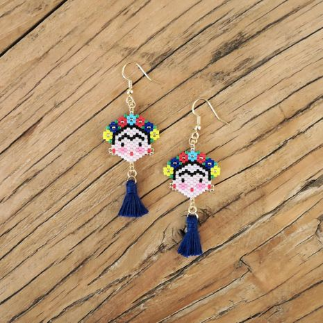 Fashion Mexican painter Fridada Fulida earrings NHGW156841's discount tags