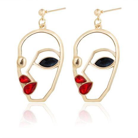 Face  fashion abstract earrings NHDP156848's discount tags