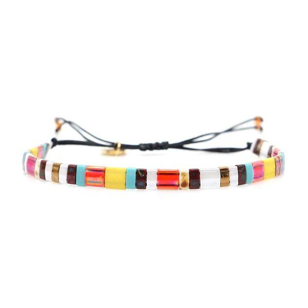 Woven Japanese rice beads bracelet NHGW156849