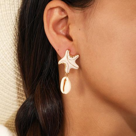 Starfish shell earrings NHGY156851's discount tags