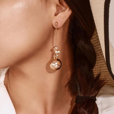 Fashion Pearl Round Earrings NHGY156868's discount tags