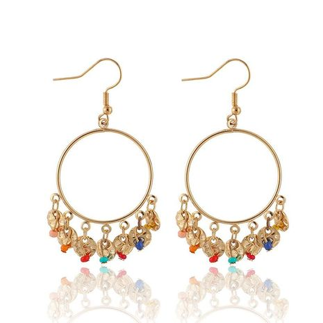 Fashion Geometric Alloy Round Bead Tassel Earrings NHGY156907's discount tags