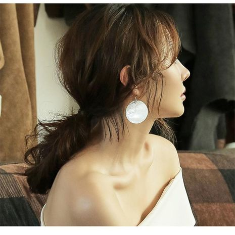 Alloy disc earrings NHPF156912's discount tags
