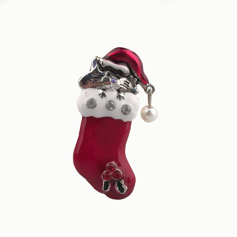 Fashion Christmas Boots Mouse Brooch NHPV156939