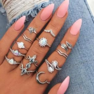 Conjunto de anillo de aleación de luna de elefante de gota de agua NHGY156941's discount tags