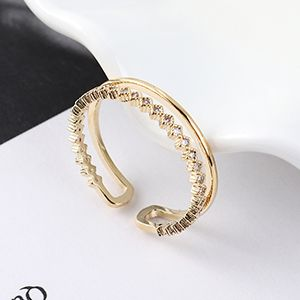 Copper & Zircon Ring Fashion NHSE383042