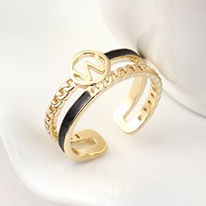 Copper plated gold Ring Fashion NHSE383120