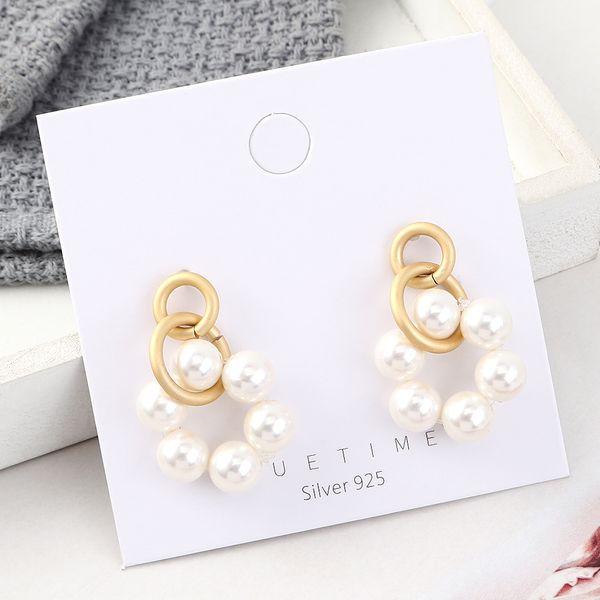 S925 Silver Needle Earring Fashion NHPS383313