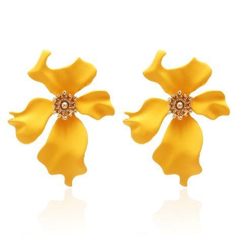 Simple painted flower stud earrings NHPF157110's discount tags