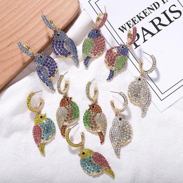 Alloy diamond animal earrings NHJQ157114