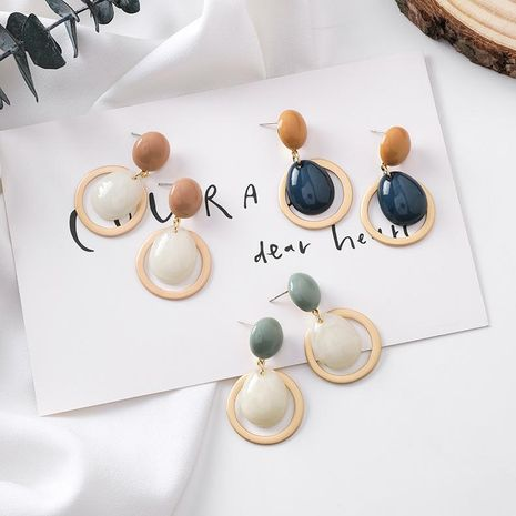 New Candy Color Cute Round Button Drop Earrings NHMS157116's discount tags