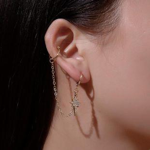 Fashion tassel star earrings single NHDP157117's discount tags
