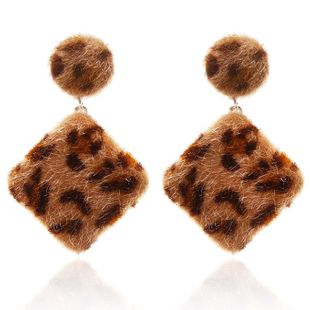 Fashion leopard-print diamond earrings NHPF157131's discount tags