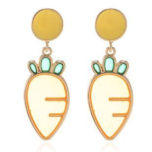Cute metal carrot earrings NHPF157141's discount tags