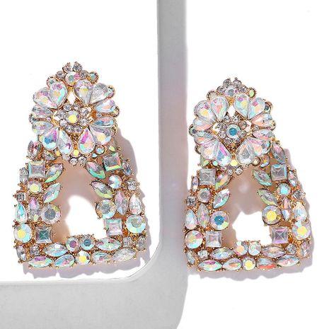 Alloy diamond geometric earrings NHJQ157148's discount tags
