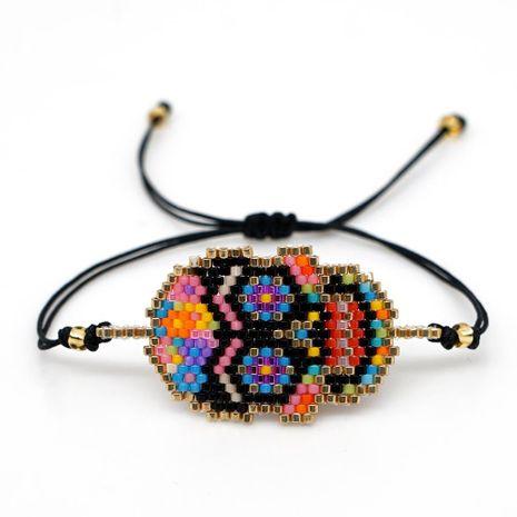 Miyuki Beads Weave Color Skull Head Totem Bracelet NHGW157156's discount tags