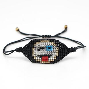 Miyuki rice beads hand-woven bracelet NHGW157160's discount tags