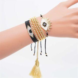 Devil Eye Female Miyuki Rice Bead Braided Bracelet NHGW157170's discount tags
