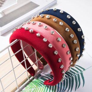 Fashion sponge single row diamond glass drill headband NHJE157183's discount tags