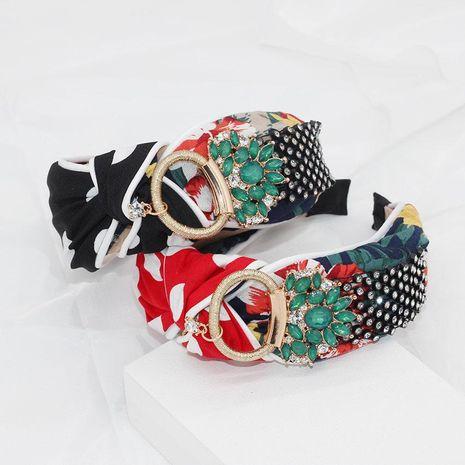 New rhinestone cross print headband NHWJ157207's discount tags