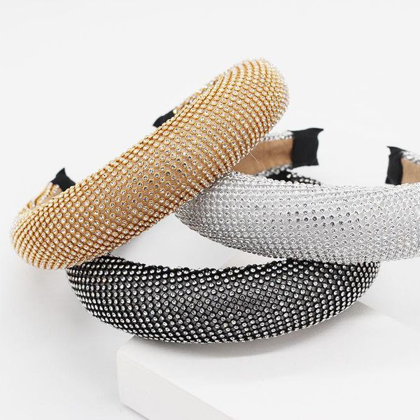 New Baroque fashion sponge full of diamond headband NHWJ157209