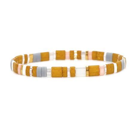 Nueva importada TILA cuentas pulsera trenzada señoras NHGW157212's discount tags
