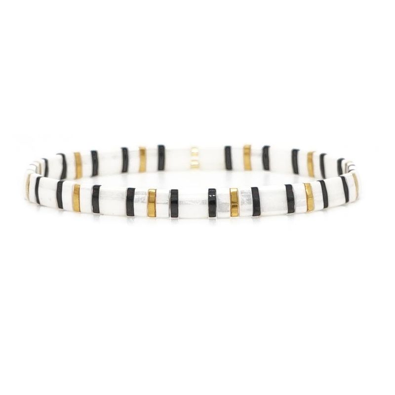 Miyaki TILA mixed color square beads ladies bracelet NHGW157214