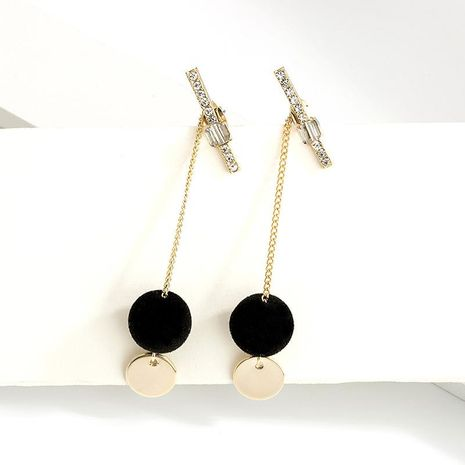 Fashion long tassel pompom 925 sterling silver earrings NHLL157217's discount tags