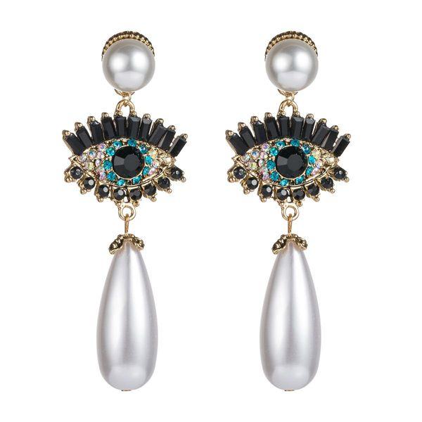 Fashion vintage shiny diamond earrings NHLN157219