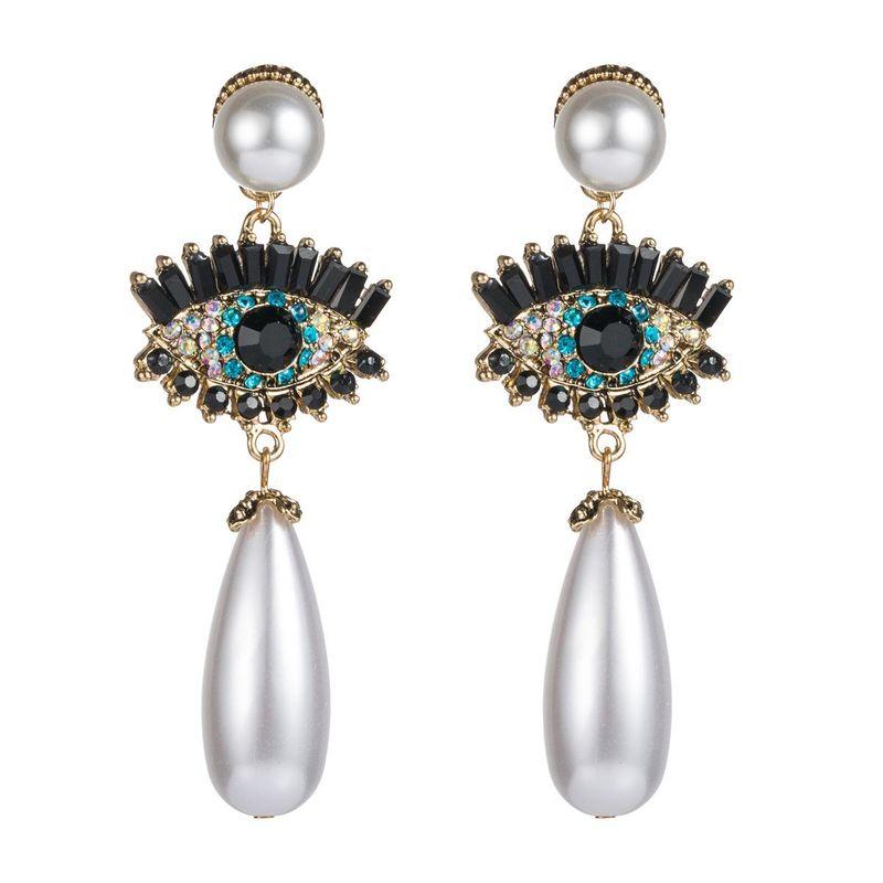 Pendientes vintage de diamantes brillantes NHLN157219