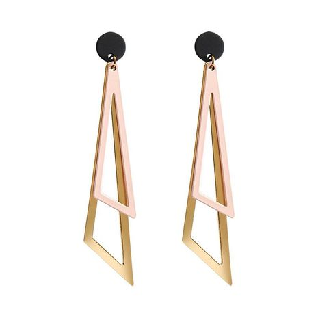 Fashion simple geometric triangle alloy earrings NHLL157230's discount tags