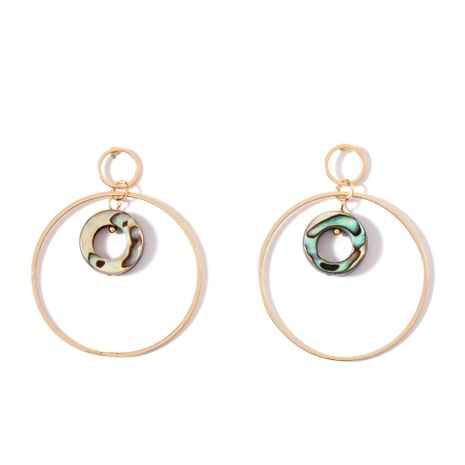 Wild sterling silver exaggerated circle  alloy earrings NHLL157231's discount tags