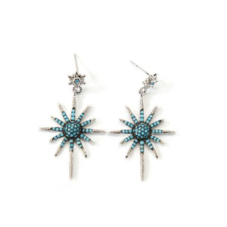 Retro sun ray alloy earrings NHLL157237's discount tags
