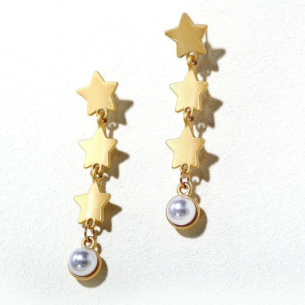 Creative retro minimalist faux pearl earrings NHPJ157256