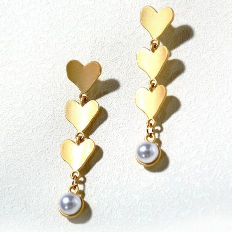 Creative Vintage Baroque Style Pearl Love Earrings NHPJ157257's discount tags
