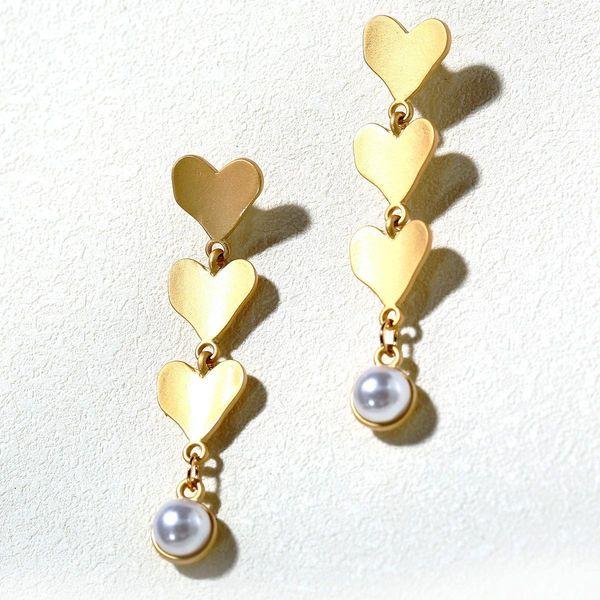 Creative Vintage Baroque Style Pearl Love Earrings NHPJ157257