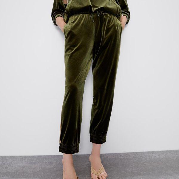 Fashion sports loose velvet jogging casual trousers NHAM157282